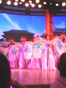 dumpling dinner and Tang Dynasty Show. It was fun! My camera dies so I took these with my dumb phone...