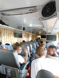 WOOO tour bus!!
