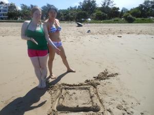 Our sand castle...