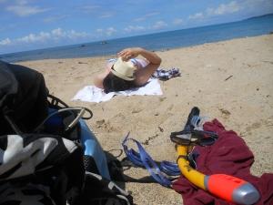 how normal people sun bathe.